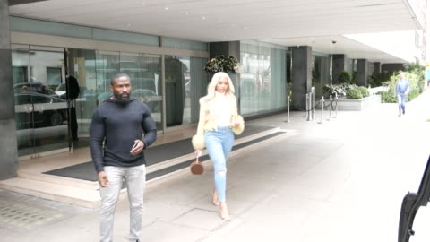 jordyn woods leaving her hotel at celebrity sightings in london on march 27, 2019 in london, england. - celebrity sightings stock videos & royalty-free footage