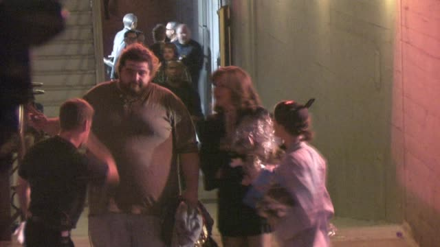 jorge garcia outside the wiltern theatre at the celebrity sightings in los angeles at los angeles ca - wiltern theatre stock videos and b-roll footage