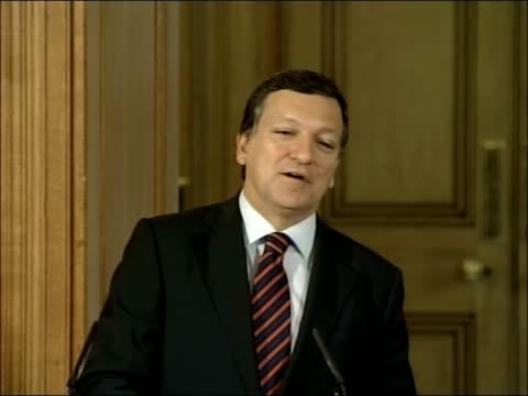 Jose Manuel Barroso and Gordon Brown press conference Jose Manuel Barroso press conference SOT On possible attendance of Robert Mugabe at...