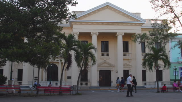 'Jose Marti' Provincial Public Library located in the Cuban National Monument area of 'Leoncio Vidal' plaza or town square, Santa Clara, Cuba