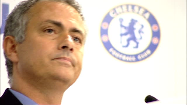 jose mourinho gives first press conference after being confirmed as chelsea's new manager england london stamford bridge photography*** various shots... - 2013 stock videos & royalty-free footage