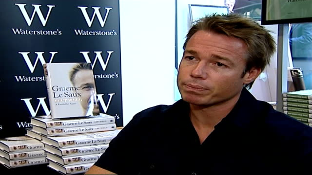 jose mourinho leaves chelsea fc by 'mutual consent' int graeme le saux signing books in waterstone's bookshop graeme le saux interview sot - chelsea f.c stock videos & royalty-free footage