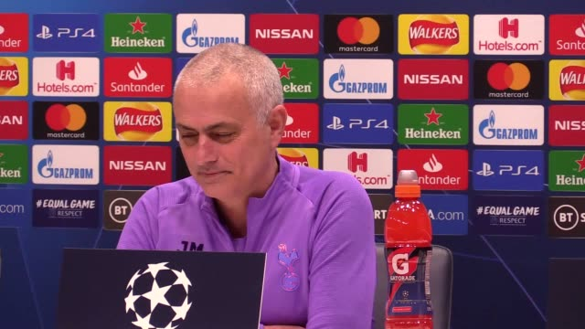 jose mourinho reacts to tottenham facing the prospect of being without son heung-min for several weeks after the forward fractured his right arm in... - son stock videos & royalty-free footage