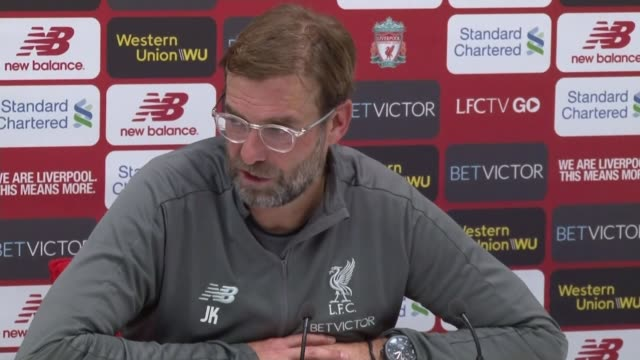 vídeos de stock e filmes b-roll de jose mourinho sacked from manchester united; england: liverpool: west derby: melwood : int jurgen klopp press conference sot. - conferência de imprensa