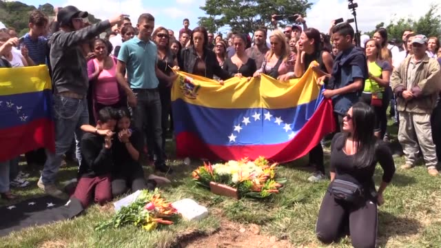 Jose Pimentel and Abraham Agostini two allies of the killed Venezuelan helicopter pilot Oscar Perez were buried Saturday morning without a wake under...