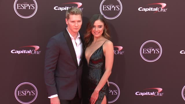 vídeos de stock, filmes e b-roll de josef newgarden at the 2018 espys at microsoft theater on july 18 2018 in los angeles california - espy awards