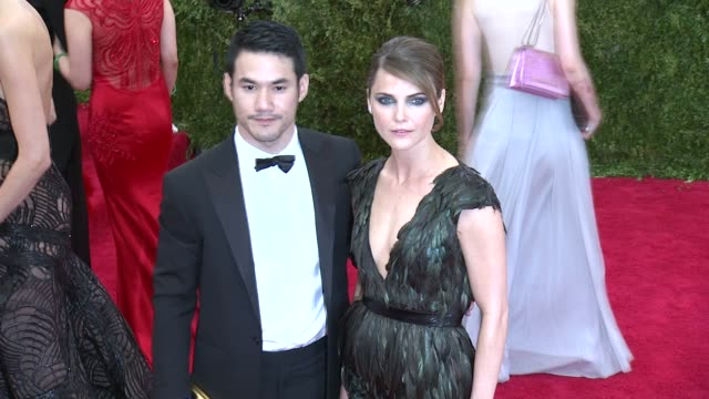 Joseph Altuzarra and Keri Russell at China Through The Looking Glass Costume Institute Benefit Gala Arrivals at Metropolitan Museum of Art on May 04...