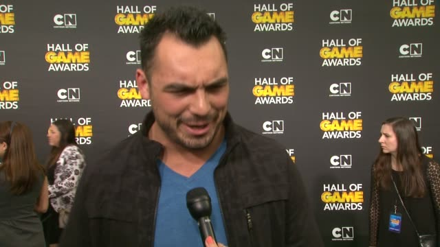 INTERVIEW Joseph Fauria on being at the show and on his favorite sports at Cartoon Network Hosts Fourth Annual Hall Of Game Awards at Barker Hangar...