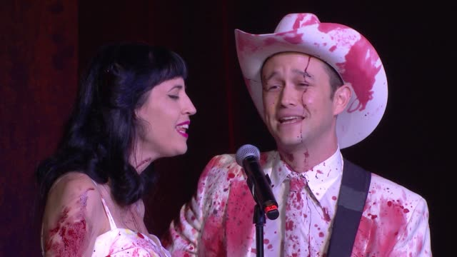 joseph gordonlevitt and tasha mccauley at hilarity for charity's 5th annual los angeles variety show seth rogen's halloween at hollywood palladium on... - seth rogen stock videos and b-roll footage
