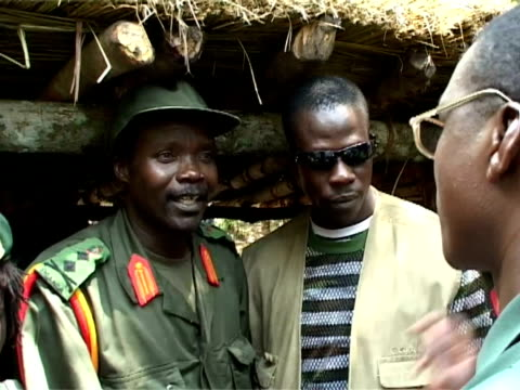 joseph, kony leader of the rebel lord's resistance army from uganda joseph kony, leader of the lord's resistance army on july 13, 2006 in democratic... - rebellion stock videos & royalty-free footage