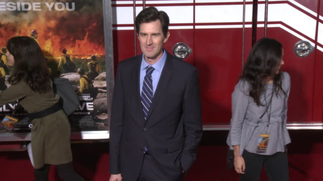 joseph kosinski at the only the brave premiere at regency village theatre on october 08 2017 in westwood california - only the brave 2017 film stock videos & royalty-free footage