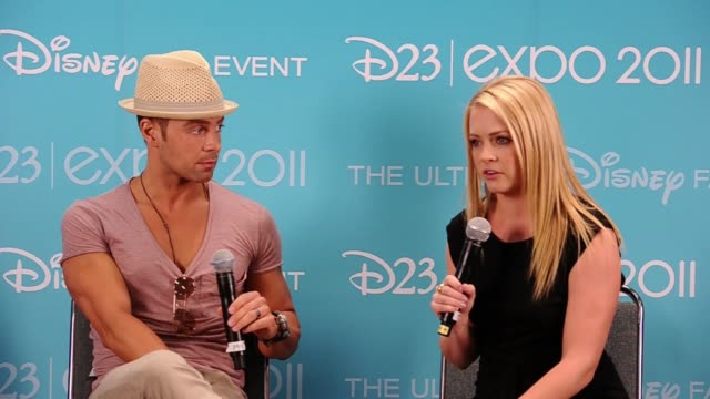 joseph lawrence and melissa joan hart on what may happen on the second season and their first disney memory. - melissa joan hart video stock e b–roll