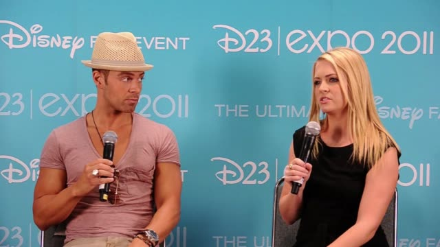 joseph lawrence and melissa joan hart on what their show is about. - melissa joan hart video stock e b–roll