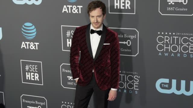Joseph Mazzello at the 24th Annual Critics' Choice Awards at Barker Hangar on January 13 2019 in Santa Monica California