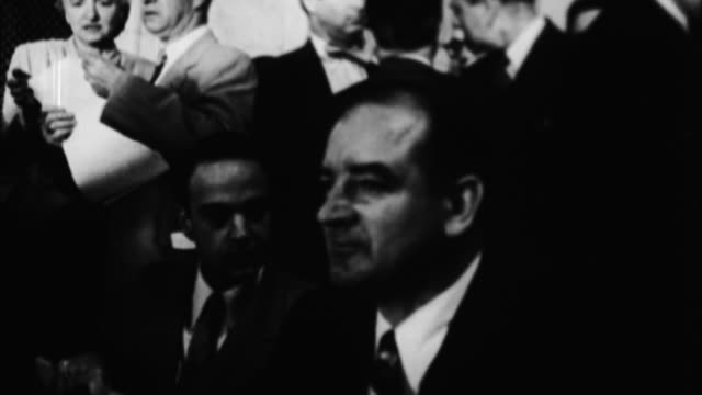 joseph mccarthy at congressional hearings / washington d c, usa - 1954 stock videos & royalty-free footage