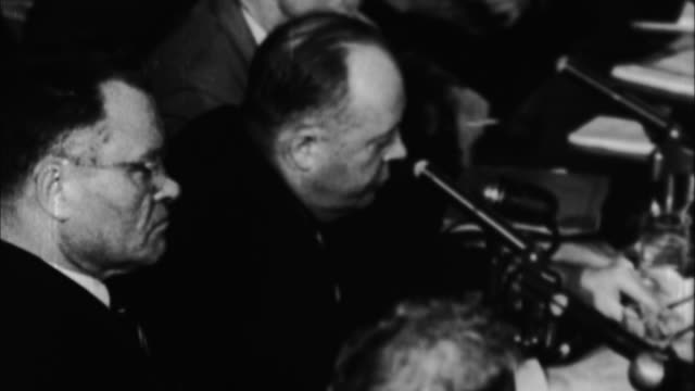 stockvideo's en b-roll-footage met joseph mccarthy at congressional hearings / washington d - 1954