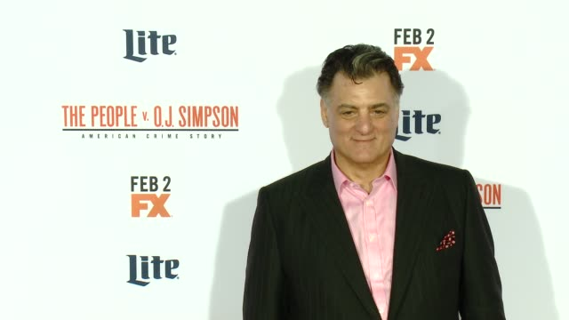"""joseph siravo at fx's """"the people v. o.j. simpson: american crime story"""" premiere at westwood village theatre on january 27, 2016 in westwood,... - westwood village stock videos & royalty-free footage"""