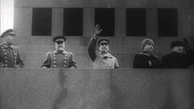 joseph stalin reviewing his troops / russia - 1941 stock videos & royalty-free footage