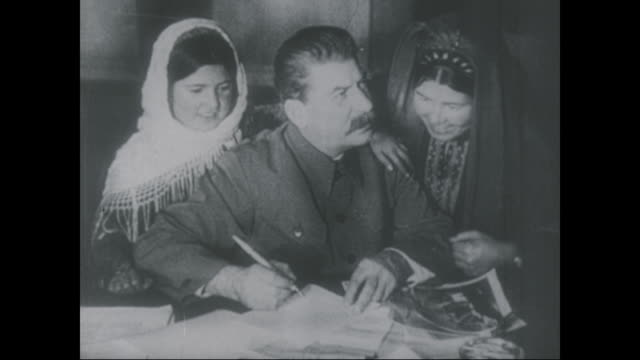 joseph stalin signs a document circa 1923 - 1923 stock videos & royalty-free footage