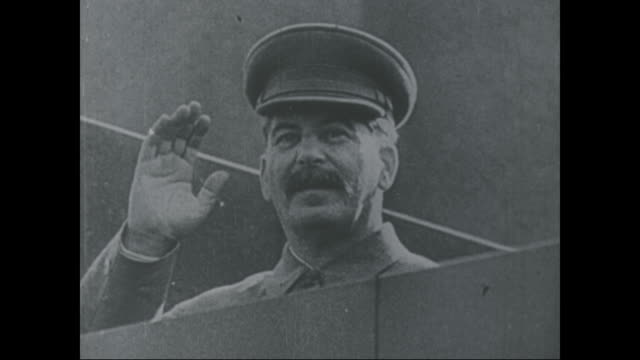 joseph stalin waves from the wall 1940 - dictator stock videos & royalty-free footage