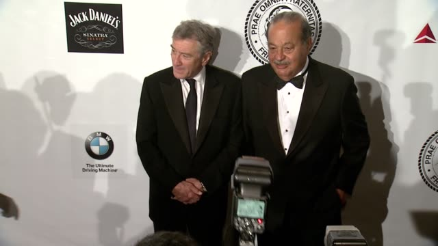 joseph zappala, guest, carlos slim, shawn king and larry king at friars foundation gala honoring robert de niro and carlos slim at the... - gala stock videos & royalty-free footage