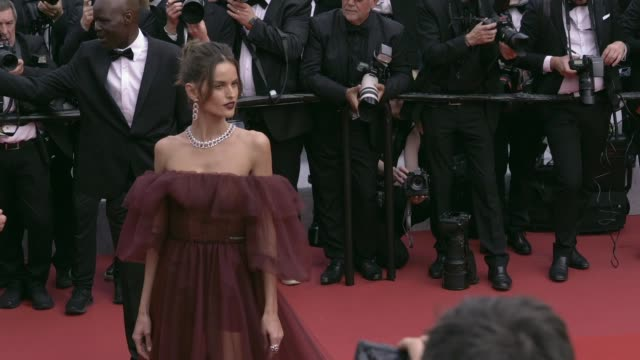 josephine skriver, izabel goulart on the red carpet for oh mercy premiere in cannes cannes, france on wednesday may 22, 2019 - izabel goulart stock videos & royalty-free footage