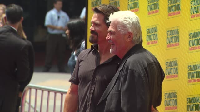 josh brolin and james brolin at the 'standing ovation' premiere at universal city ca. - james brolin stock videos & royalty-free footage
