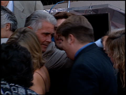 josh brolin at the dedication of james brolin's hollywood walk of fame star at 7018 hollywood blvd in los angeles, california on august 27, 1998. - james brolin stock videos & royalty-free footage