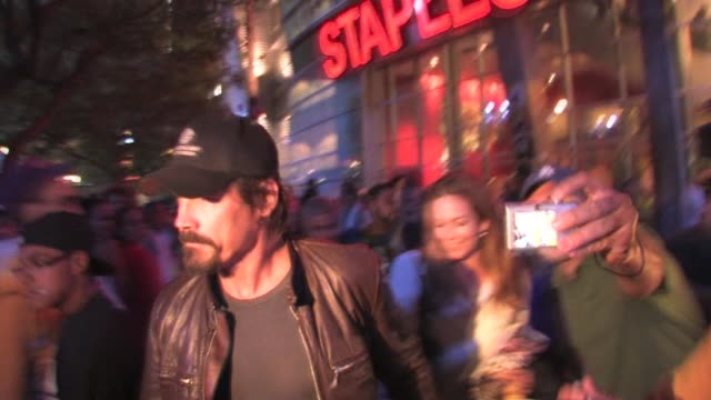 josh brolin diane lane at staples center at the celebrity sightings in los angeles at los angeles ca - the center stock videos & royalty-free footage