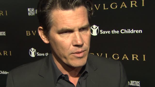 josh brolin on coming out to help honor paul haggis how he got involved with artists for peace and justice what it means to have bvlgari supporting... - ricky martin stock videos and b-roll footage