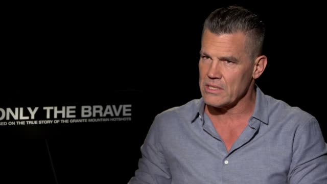interview josh brolin on his own experiences as a volunteer firefighter when he was young how that influenced him on this film on his character... - only the brave 2017 film stock videos & royalty-free footage