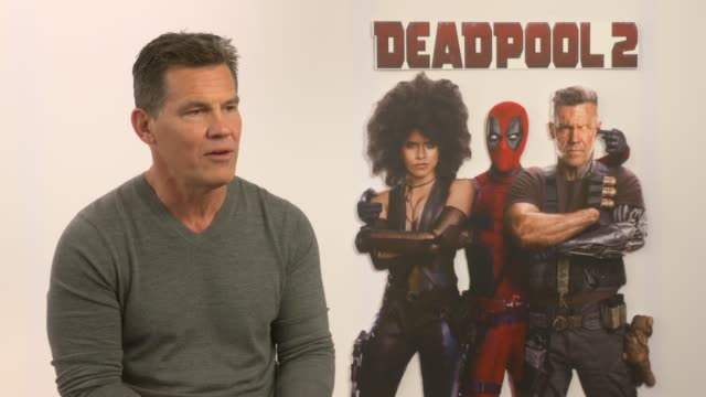 josh brolin on living up to the first movie at claridge's hotel on may 09, 2018 in london, england. - claridge's stock videos & royalty-free footage