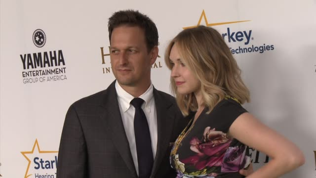 josh charles and sophie flack heifer international hosts 3rd annual beyond hunger a place at the table gala at montage beverly hills on august 22... - josh charles stock videos and b-roll footage