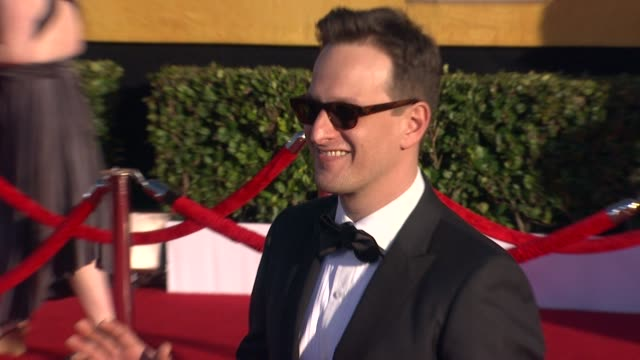 josh charles at 18th annual screen actors guild awards arrivals on 1/29/2012 in los angeles ca - josh charles stock videos and b-roll footage