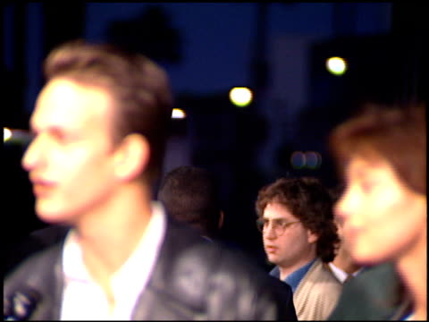 josh charles at the 'threesome' premiere at academy theater in beverly hills california on april 4 1994 - josh charles stock videos and b-roll footage