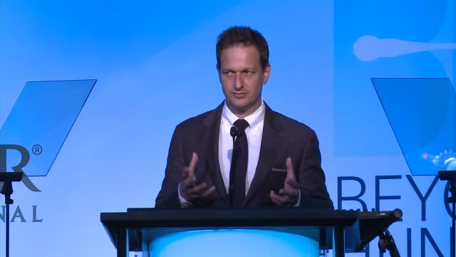 josh charles introduces tom colicchio and lori silverbush heifer international hosts 3rd annual beyond hunger a place at the table gala at montage... - josh charles stock videos and b-roll footage