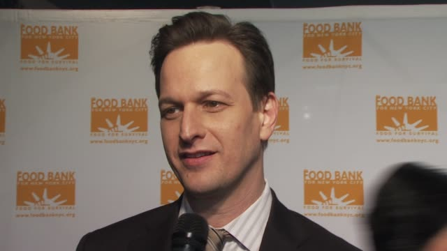 josh charles wanted to come out and support cause thinks emeril is great loves mario batali just finish season of the good wife at the food bank for... - josh charles stock videos and b-roll footage