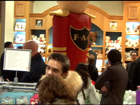 josh duhamel and fergie at fao schwarz at the celebrity sightings in new york at new york ny - fergie duhamel stock videos and b-roll footage