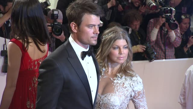 josh duhamel and fergie at the 'alexander mcqueen savage beauty' costume institute gala at the metropolitan museum of art at new york ny - fergie duhamel stock videos and b-roll footage