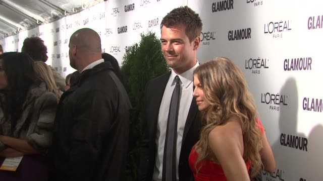 josh duhamel and fergie at the glamour magazine honors the 2010 women of the year red carpet at new york ny - fergie duhamel stock videos and b-roll footage