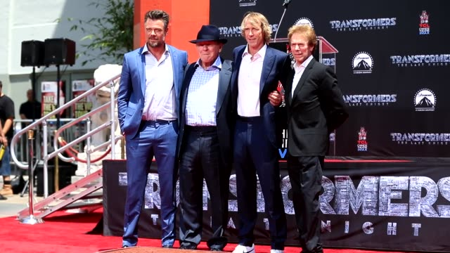 josh duhamel anthony hopkins michael bay jerry bruckheimer at the michael bay hand and footprint ceremony at tcl chinese theatre in hollywood in... - anthony hopkins stock videos & royalty-free footage