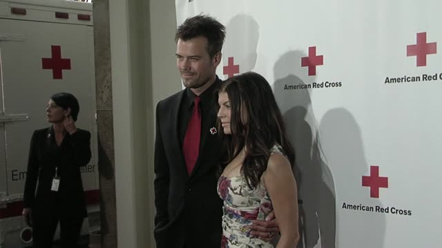 josh duhamel fergie at the american red cross of santa monica's annual 'red tie affair' at santa monica ca - fergie duhamel stock videos and b-roll footage