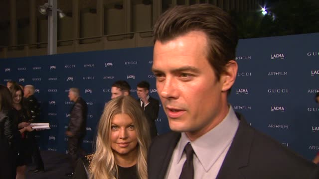 interview josh duhamel fergie on why they wanted to support lacma and the honorees their favorite works from sorcese and looking forward to sting's... - fergie duhamel stock videos and b-roll footage