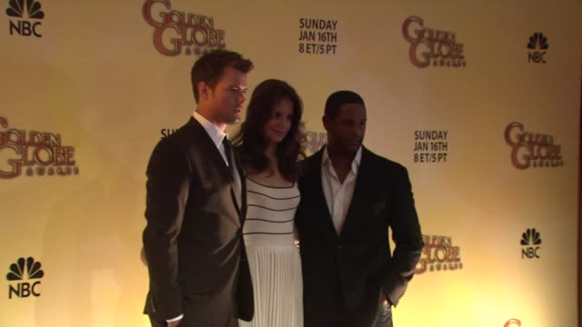 vidéos et rushes de josh duhamel katie holmes and blair underwood at the 68th annual golden globe awards nominations at beverly hills ca - blair underwood
