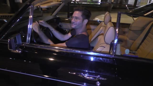 josh flagg shows off his one of a kind rolls royce outside craig's in west hollywood in celebrity sightings in los angeles - rolls royce videos stock videos & royalty-free footage