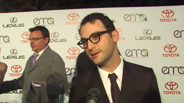 josh fox on being nominated for his documentary 'gasland', on what the film is about, on the ema's at the environmental media association celebrates... - documentary film stock videos & royalty-free footage