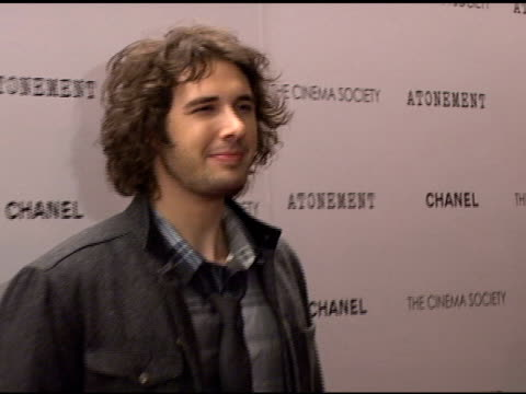 josh groban at the 'atonement' premiere at ifc center in new york new york on december 3 2007 - 2007 stock videos & royalty-free footage