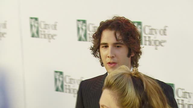 josh groban at the bmg us president charles goldstuck honored at the city of hope's spirit of life award gala at pacific design center in west... - josh charles stock videos and b-roll footage