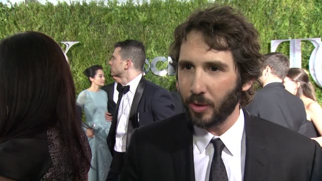 interview josh groban on singing at the tony's and his love for the theater at 2015 tony awards arrivals at radio city music hall on june 07 2015 in... - radio city music hall stock videos & royalty-free footage