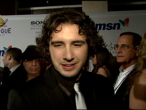 josh groban on the event and clive davis at the clive davis 2008 pre-grammy awards party at null in beverly hills, california on february 9, 2008. - clive davis stock videos & royalty-free footage